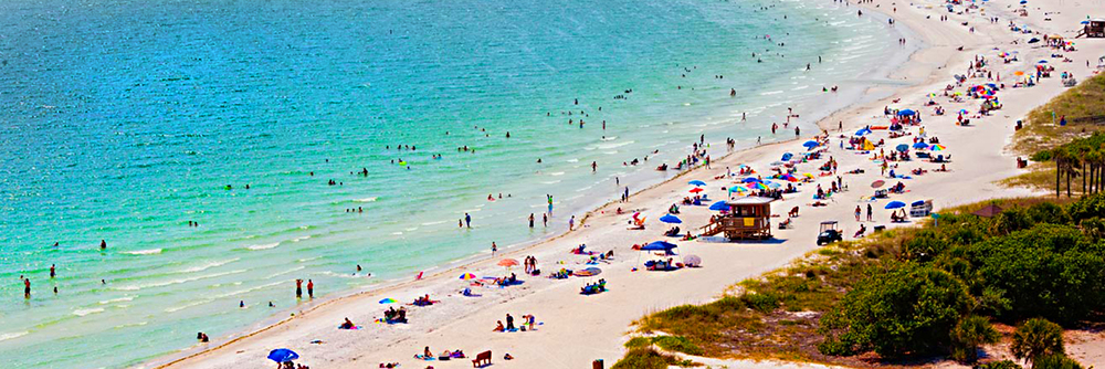 Siesta Key is one of the most beautiful beaches in the world due to it's powder white sand