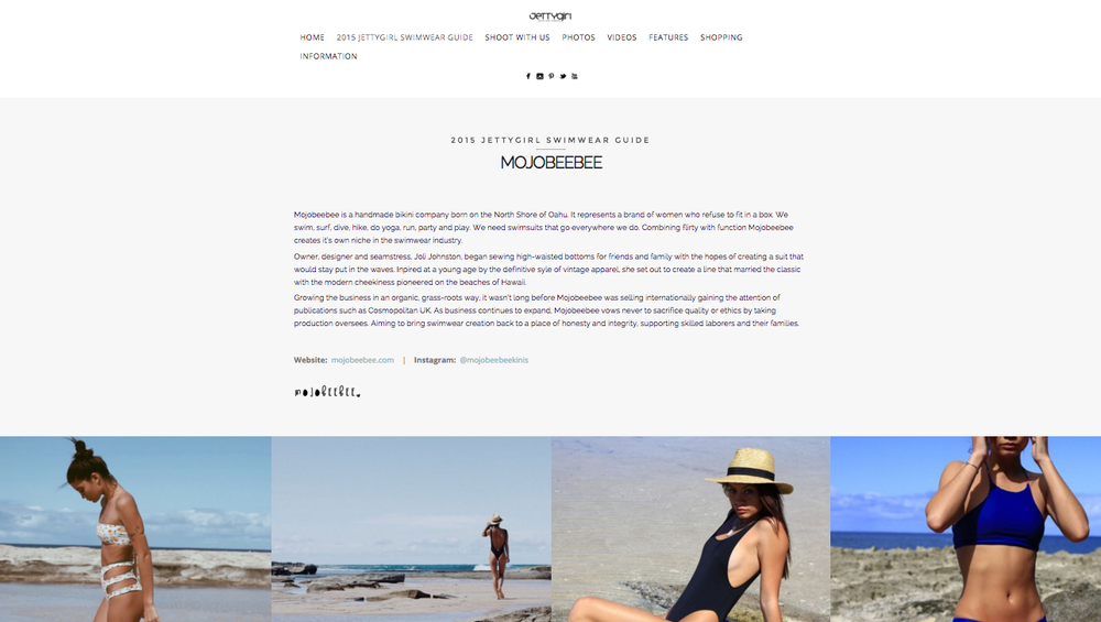 Featured in 2015 Jettygirl Swimwear Guide