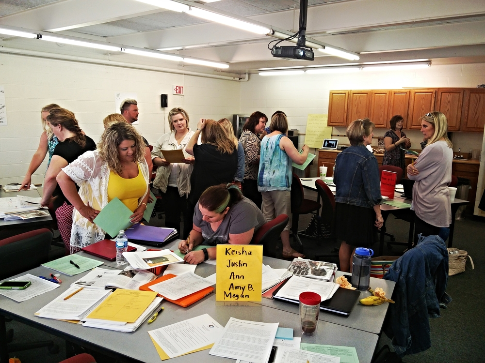 Spring 2016 West Virginia Lab Participants engaged in conversation around vocabulary instruction