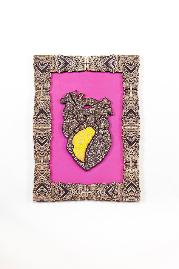 Corazon Loteria Pink