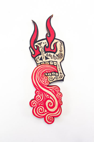 Calavera Red Black