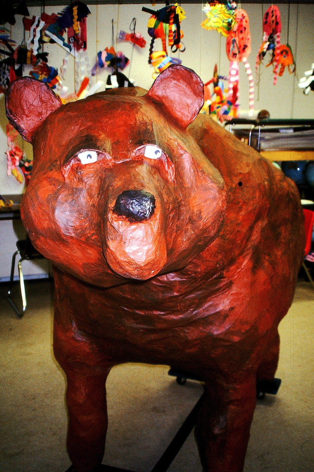 Life-sized bear at Chinook Elementary.JPG