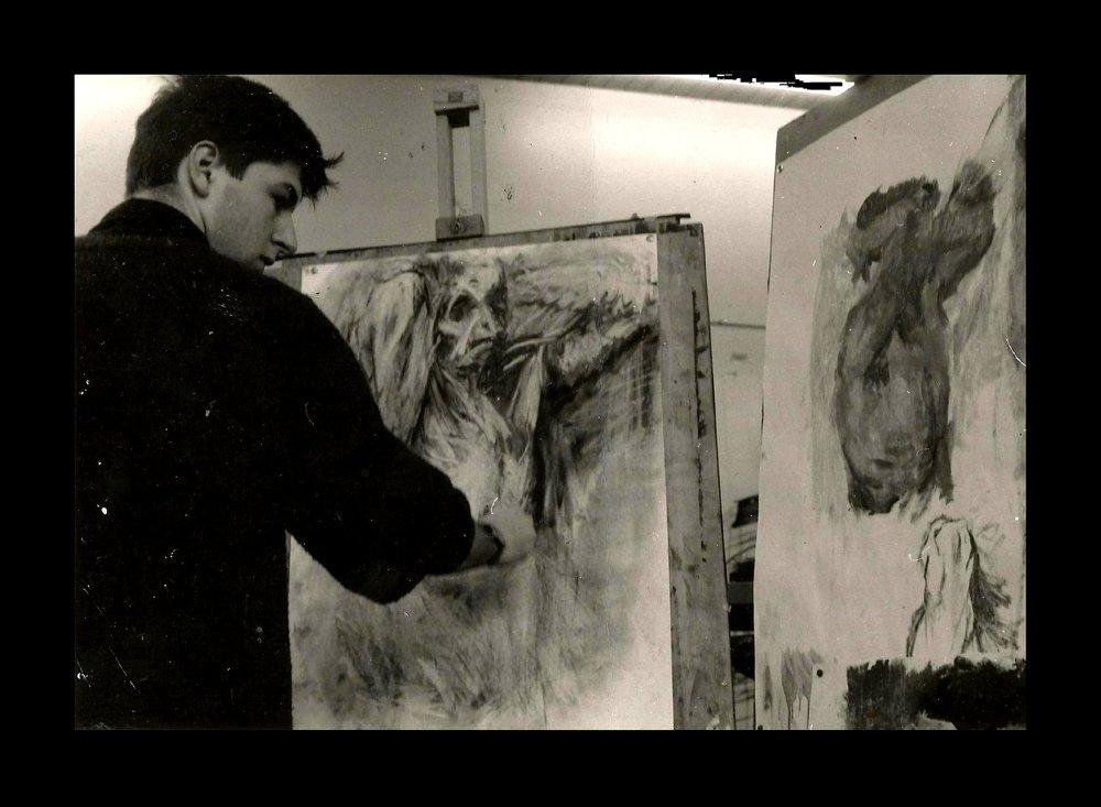 Life drawing, art school, 1986