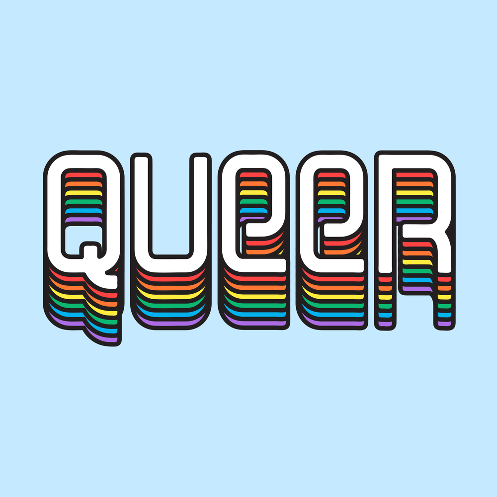 "Pride Month ""Queer"" Sticker,  Instagram"