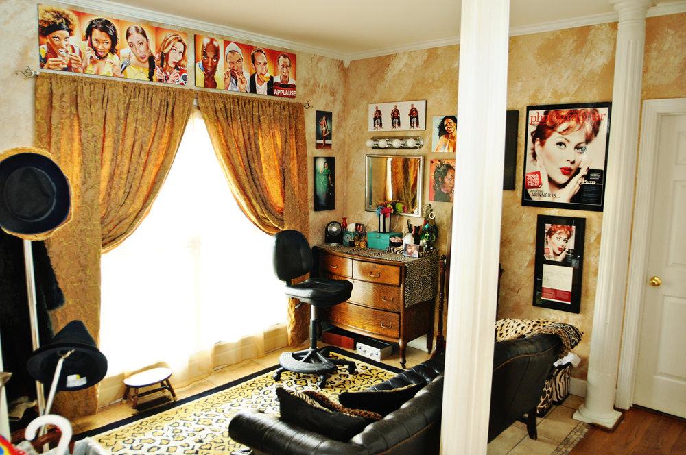 Makeup Vanity & Waiting Area