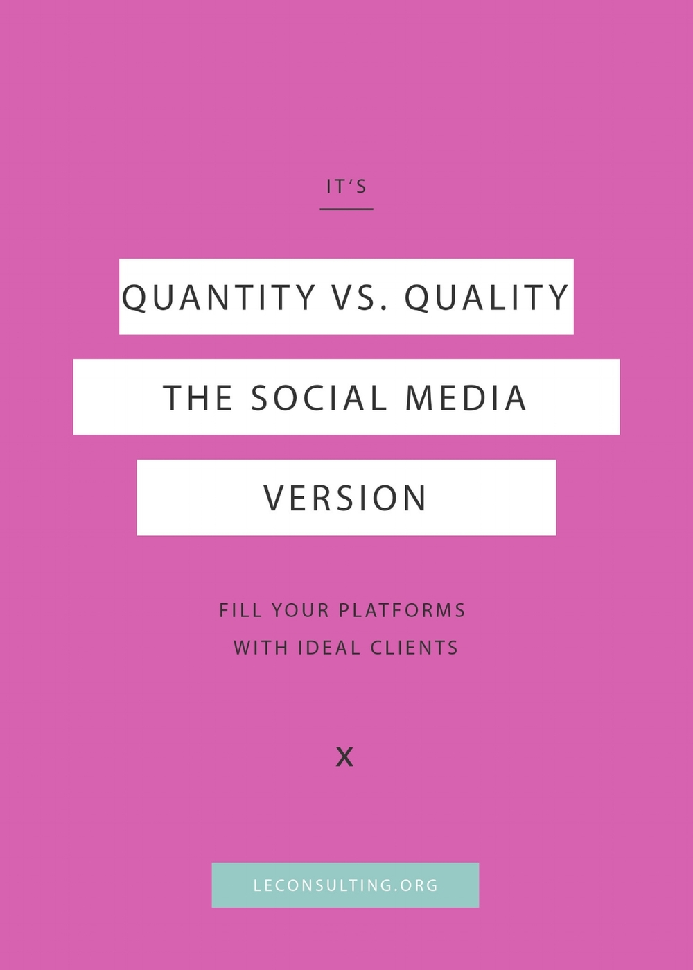 It's true — entrepreneurs love growing their social media accounts. But those numbers mean nothing if they're not filled with your ideal customers. Keep reading to find out how fill up your business's social media platforms with quality ideal customers. | LE Consulting