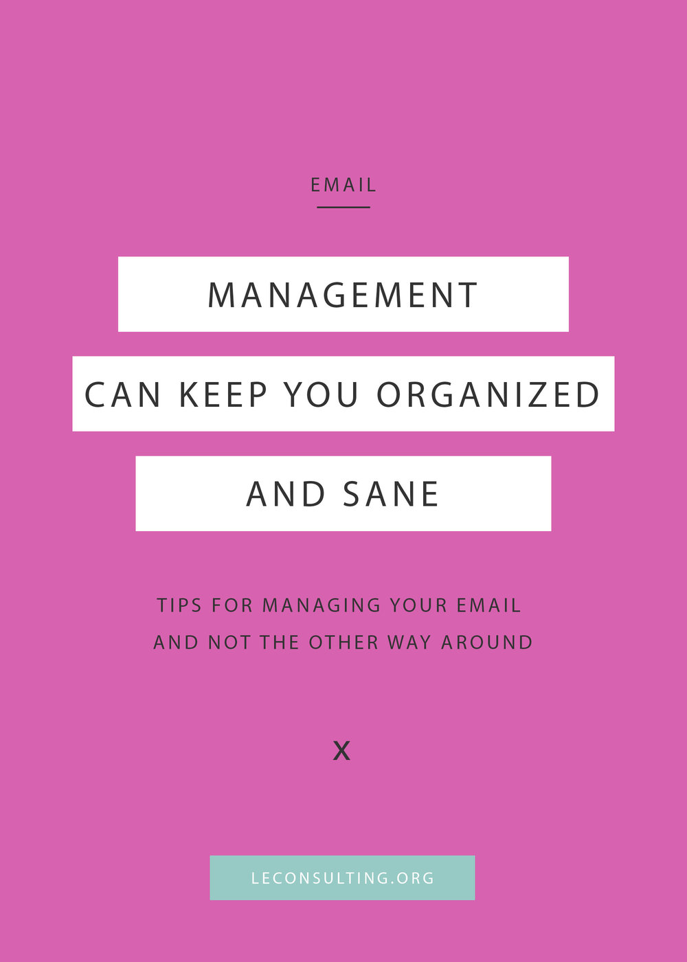 As a creative entrepreneur, your e-mail can either be your best friend or your worst enemy. To reach that great feeling of inbox zero, we've implemented a few organization tricks to keep the productivity going. Keep reading to see how you can organize your inbox too. | LE Consulting
