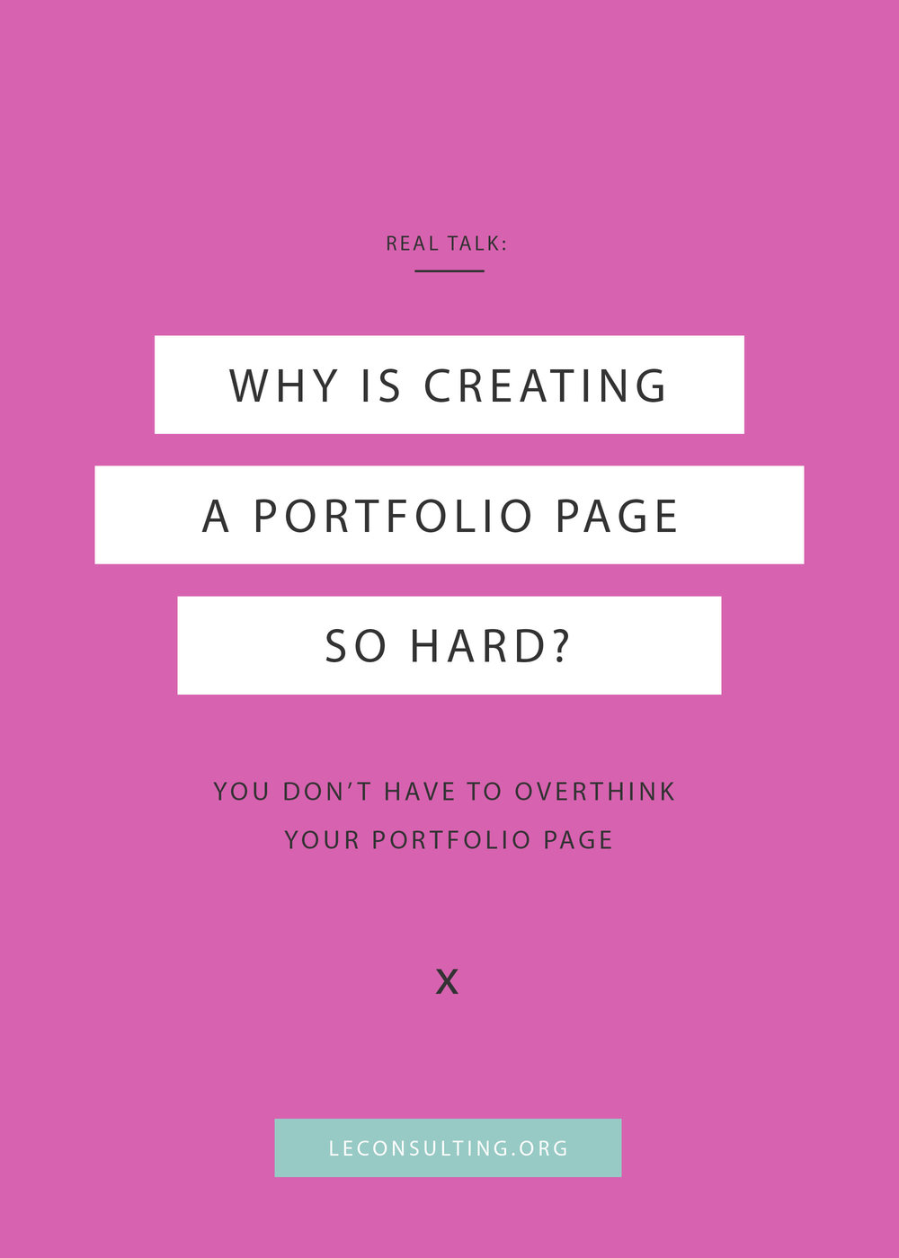 If you're a design entrepreneur, then you know the struggles of creating your portfolio page. While you could sit and nitpick over what to or what not to include or whether to include testimonials on your portfolio page, you could just click through to read our post on how to create a portfolio page with ease. | LE Consulting
