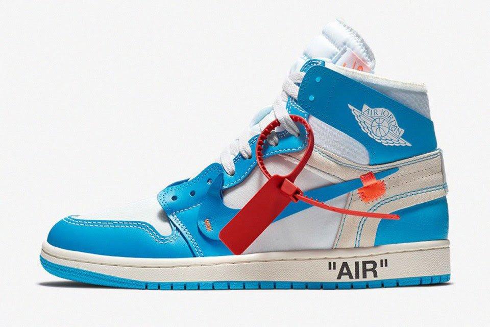"0a709f78f46 Virgil Abloh x Nike Air Jordan 1 ""UNC"" (highsnobiety.com)"