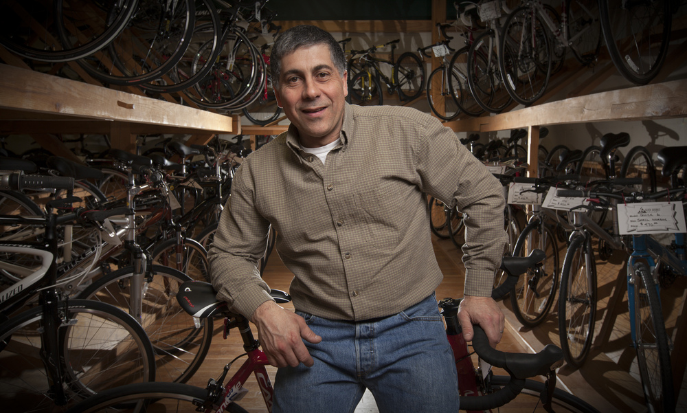 Owner of Gear Works Cyclery Gene Kalijian
