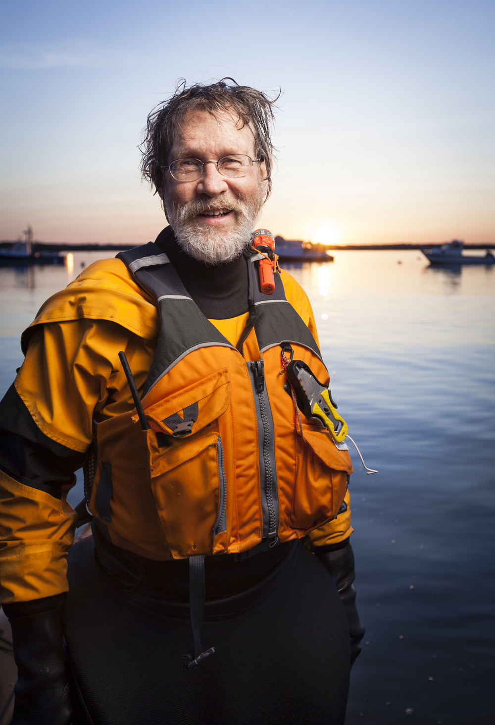Environmental portrait of a Sea Kayaker