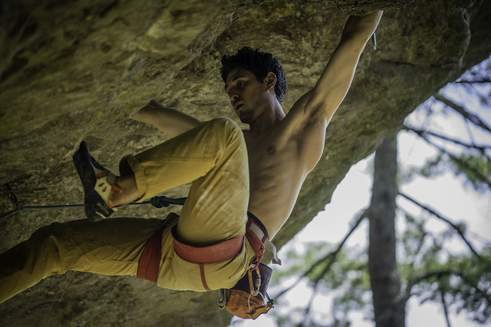 Raph Laude on Orangahang at Rumney