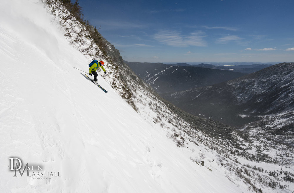 Skiing right gully in Tuckerman Ravine Mt Washington