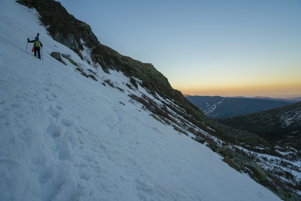 Andrew Drummond climbing Tuckerman Ravine