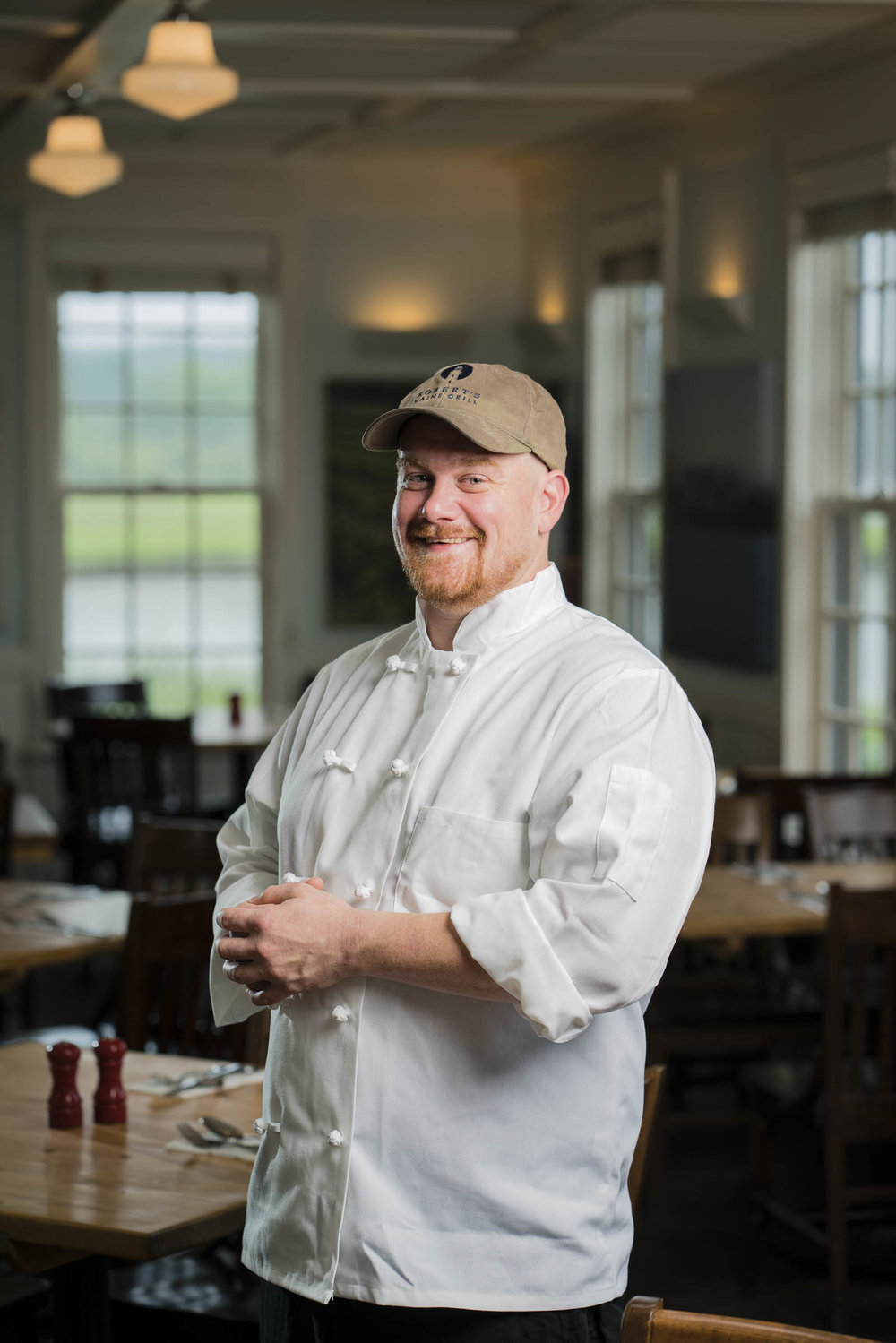 Portrait Photography of Chef Dylan Harrigan of Robert's Maine Grill