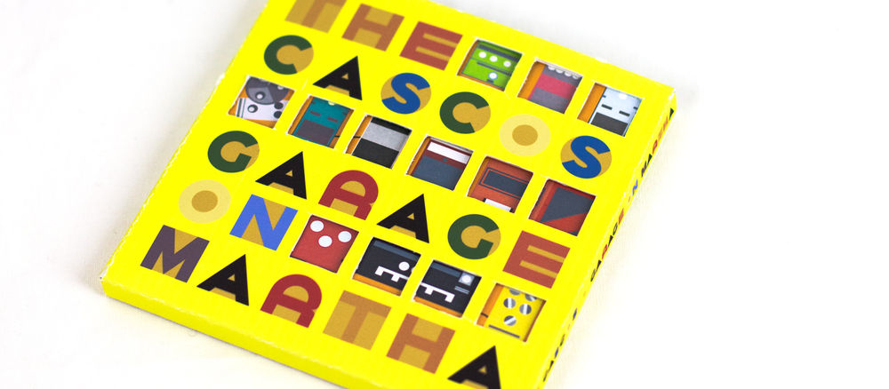 The Cascos, a rock band from Buffalo, NY, wrote and recorded all of its music in a garage. I designed its album package to mimic a garage door and display imagery of music and recording tools with elements found in and around a garage. I also designed a custom typeface for use on the album and in its liner notes.