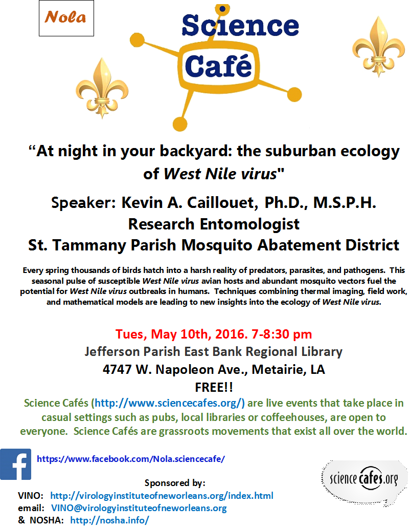 NOLA Science Cafe — Virology Institute of New Orleans (VINO)