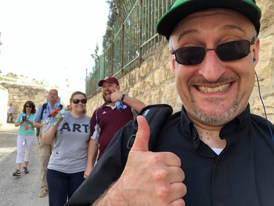 Pictured above: Fr. Darryl did not endorse my CC Canada Meetup event idea prior to my posting this, despite what his thumbs up photo that I photobombed may suggest. Photo of Canadian producer Josh not shown.