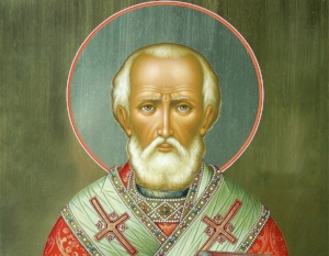 St. Nick. Cuddly lover of children - also known for punching heretics in the face.
