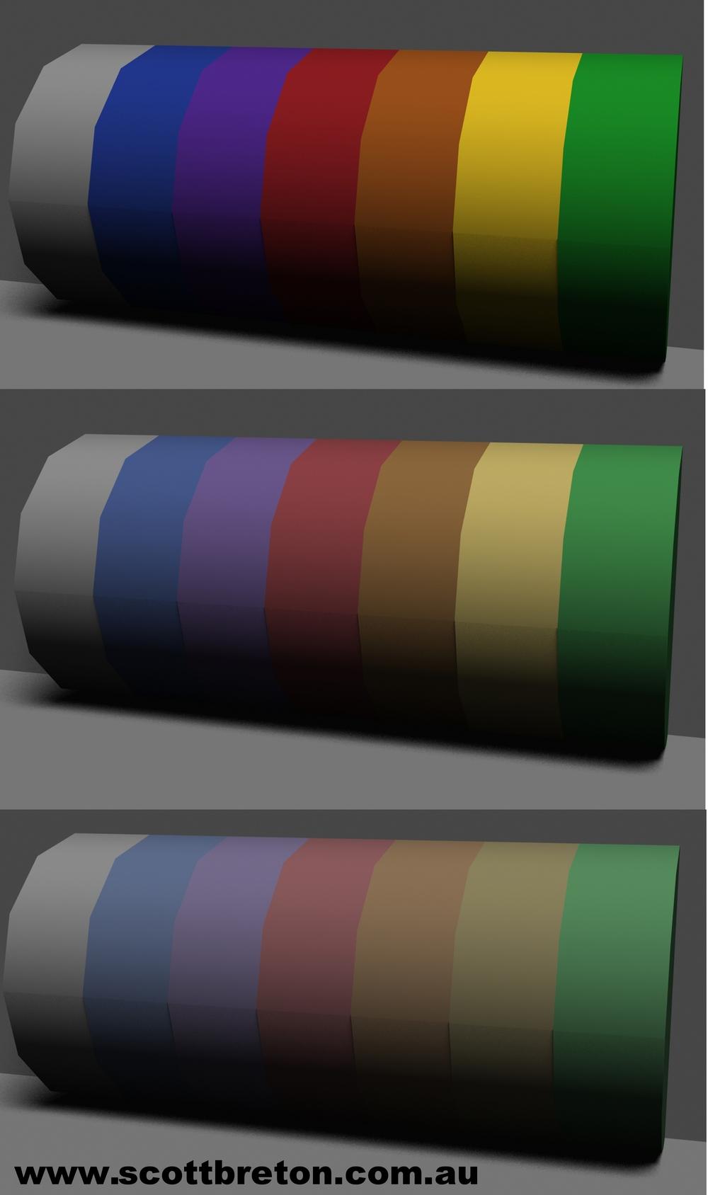 Diagram 4: Same light, varied chroma of objects