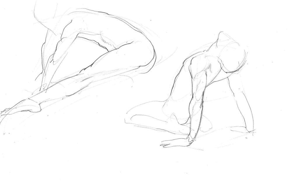 Fast Life Study Of A Ballet Dancer