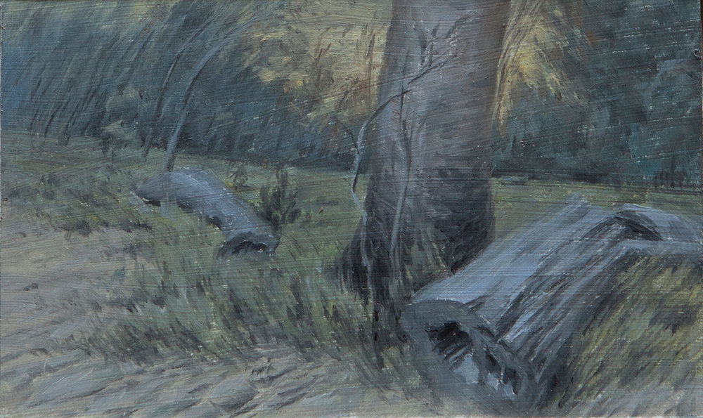 Oil Sketch for Fallen Timber