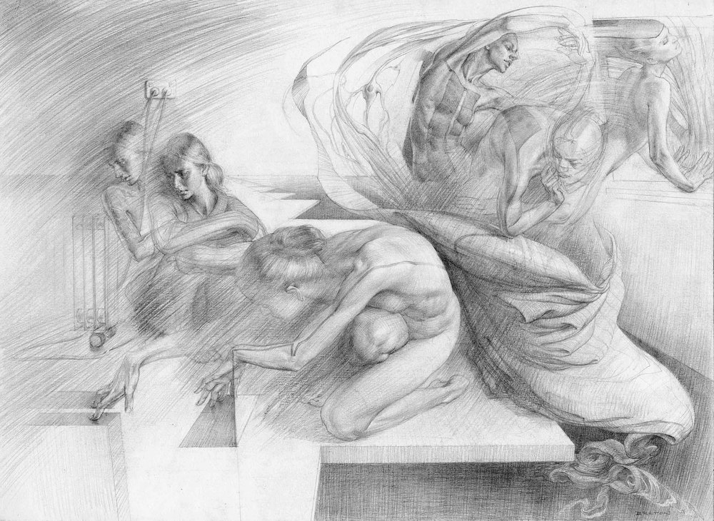 """Psyche"" Graphite on paper"