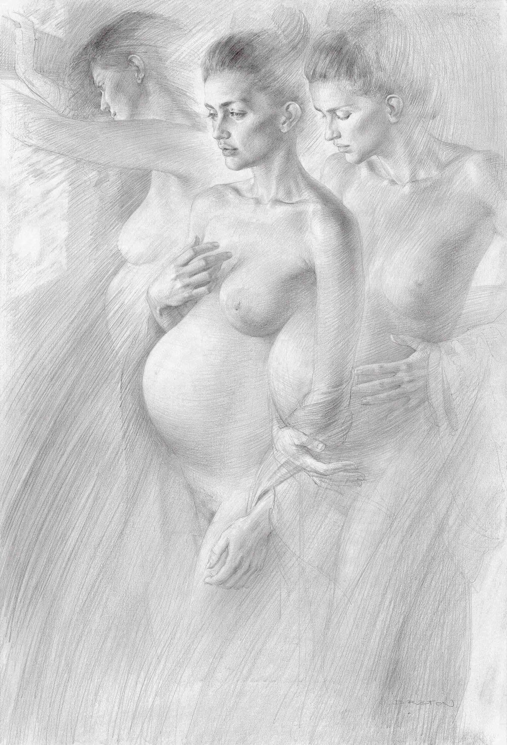 """Inwards Frontier"" Graphite on paper"