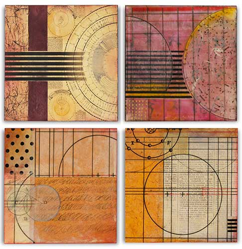 Grid Studies 1-4, each is 8x8