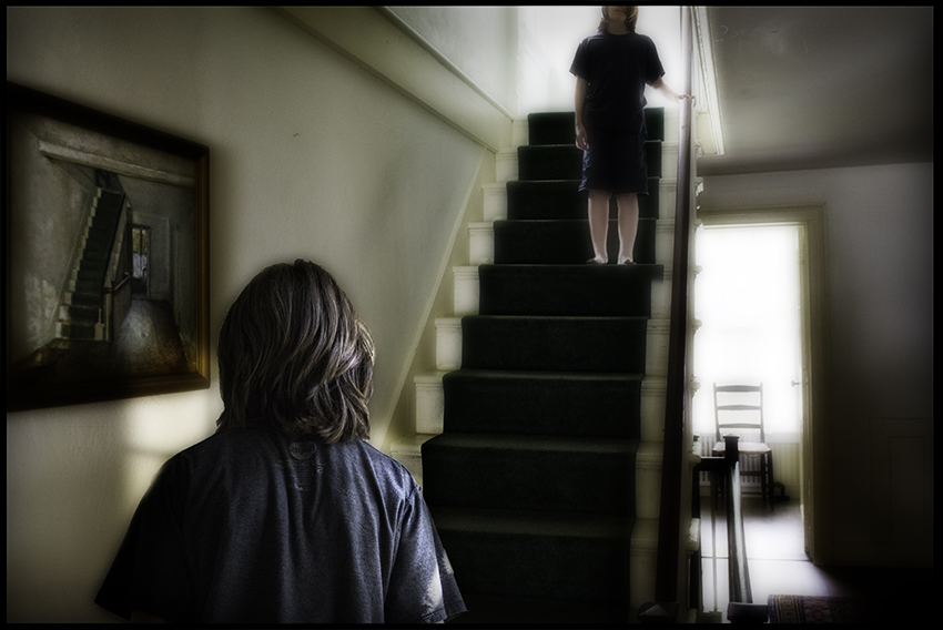 Two Stairs One Boy