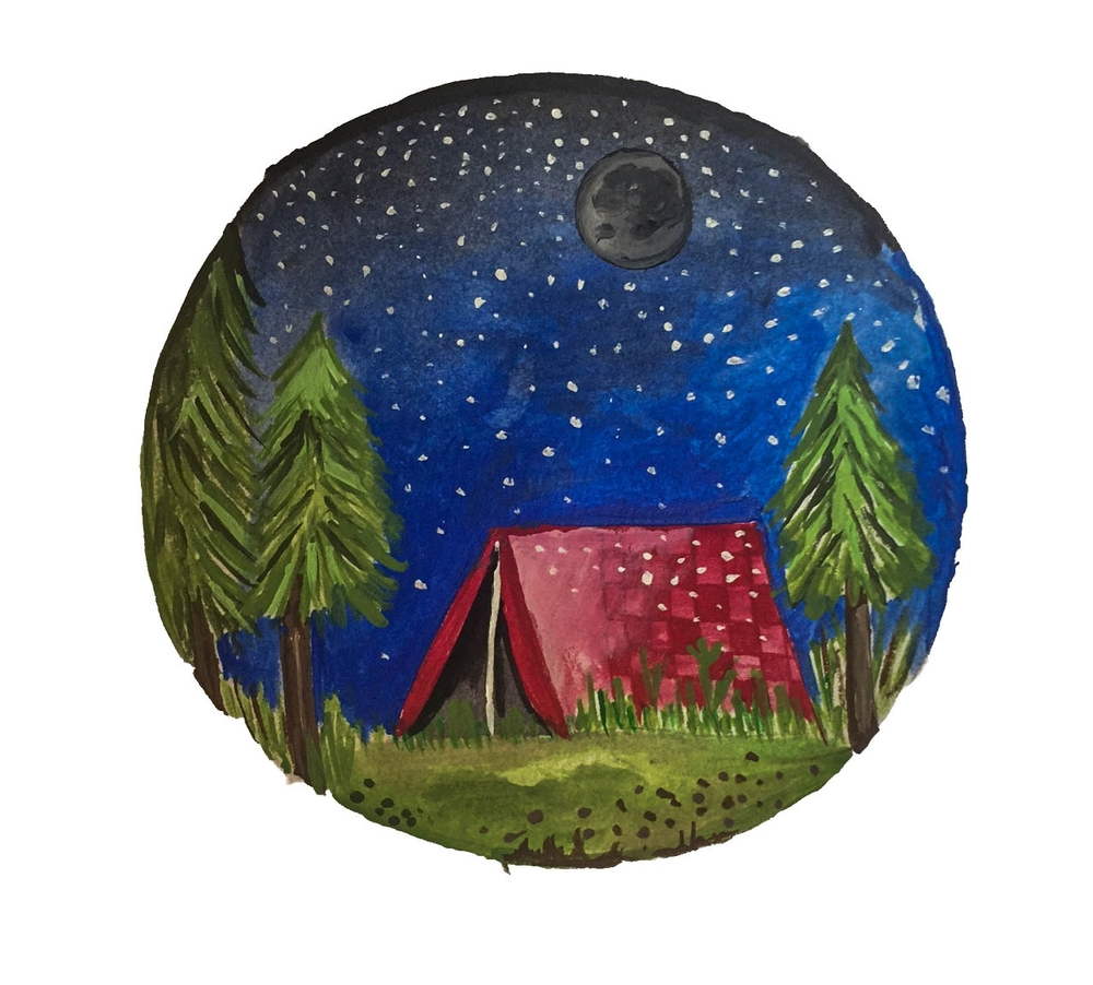 Tent Painting, Kaly Ishee