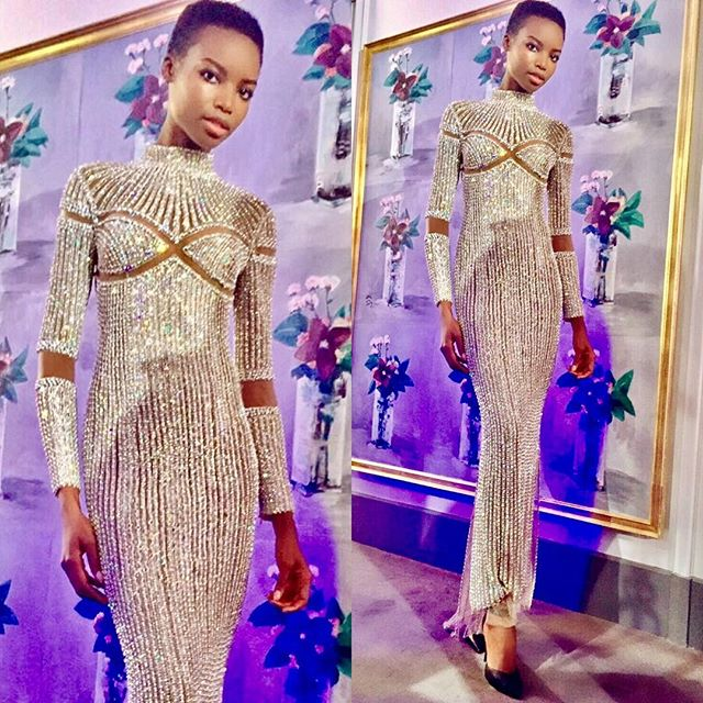 Thank you Olivier for having me as your date and dressing me in a mesmerizing Balmain piece of art, last night. @olivier_rousteing @balmain. I had a wonderful time supporting a great cause. #dinerdurwanda #charitygala #aemassociation