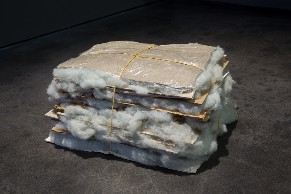 Untitled (pallet for clay impressions to be done quickly), 2013