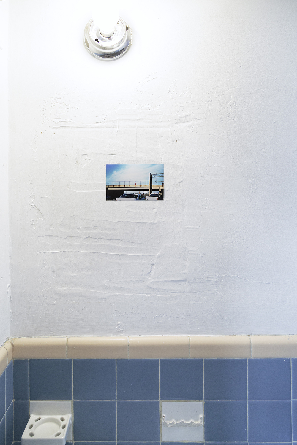 Installation view at Artist-Run Satellite Miami, Pool Rules, Fjord Gallery collaborative installation  Excerpt from Unemployed, 2005-2015, inkjet prints
