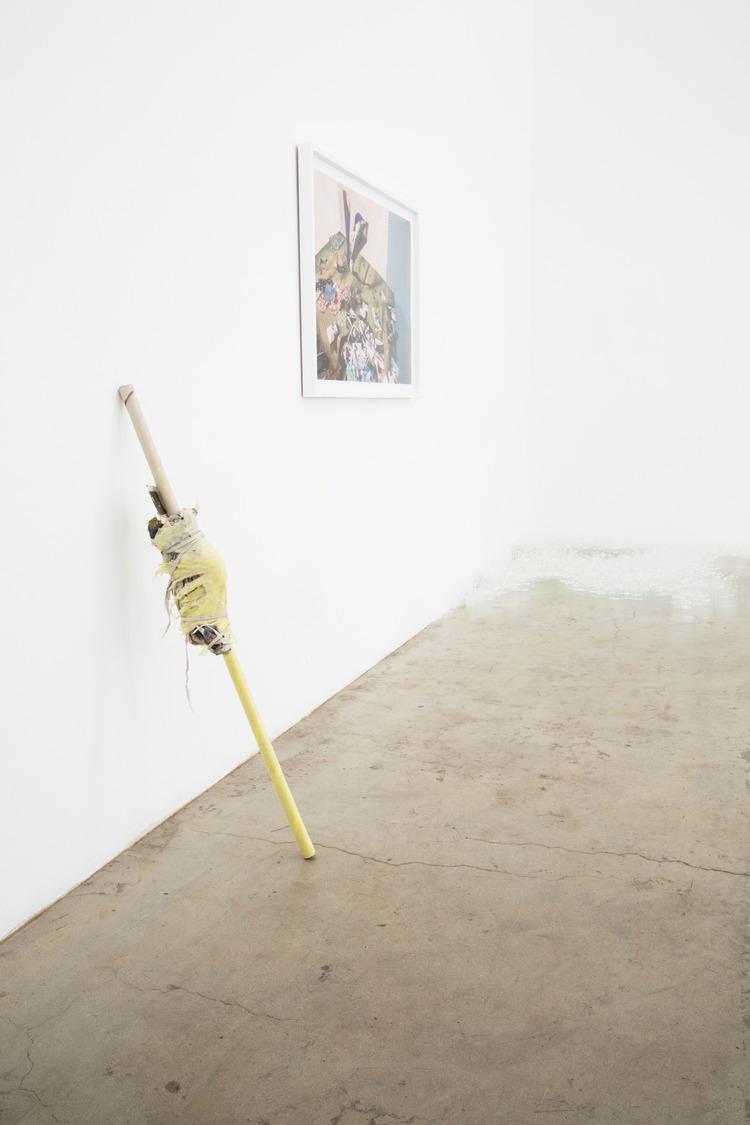Installation view, Untitled (knee stick), 2013