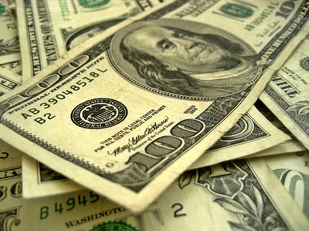You need to pile up quite a few of these to reach $19 trillion.  Photo by 401(K) 2012 and licensed under CC BY-SA 2.0.