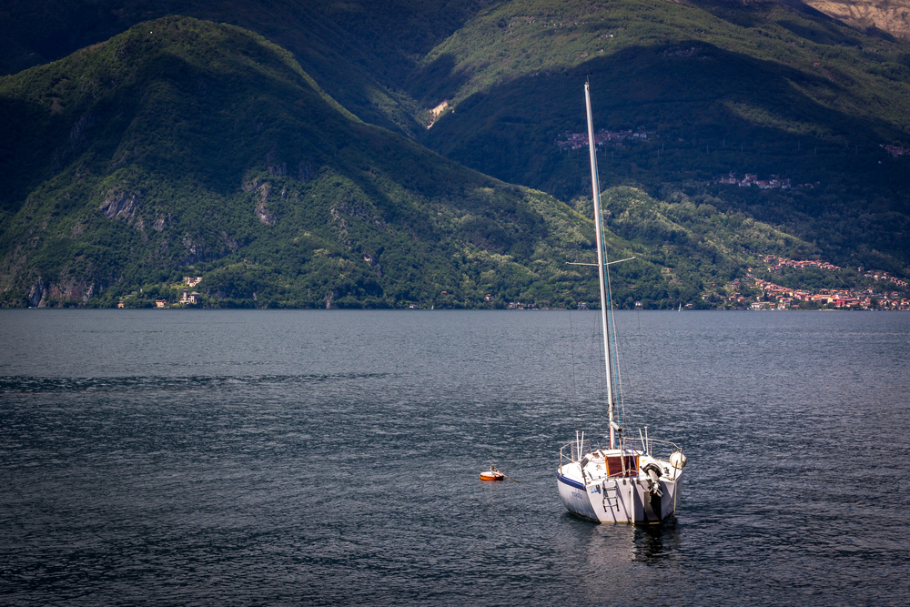 Sail Boat on Lake Como