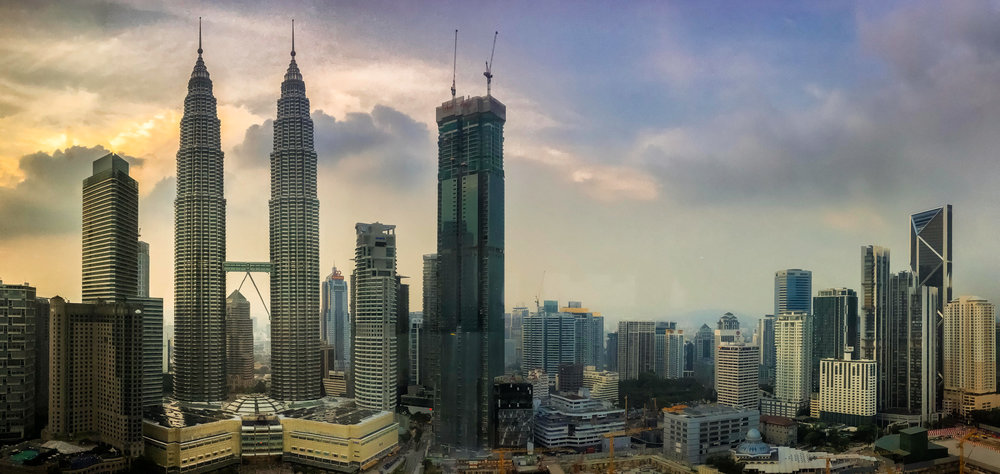 Futuristic KL city centre. Like a scene from Blade Runner.