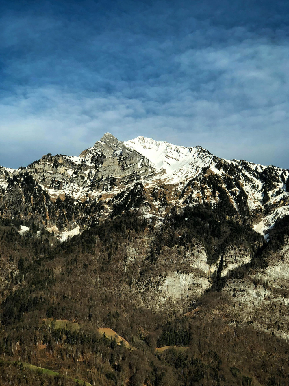 Impressive mountain walls greet you en route to Davos