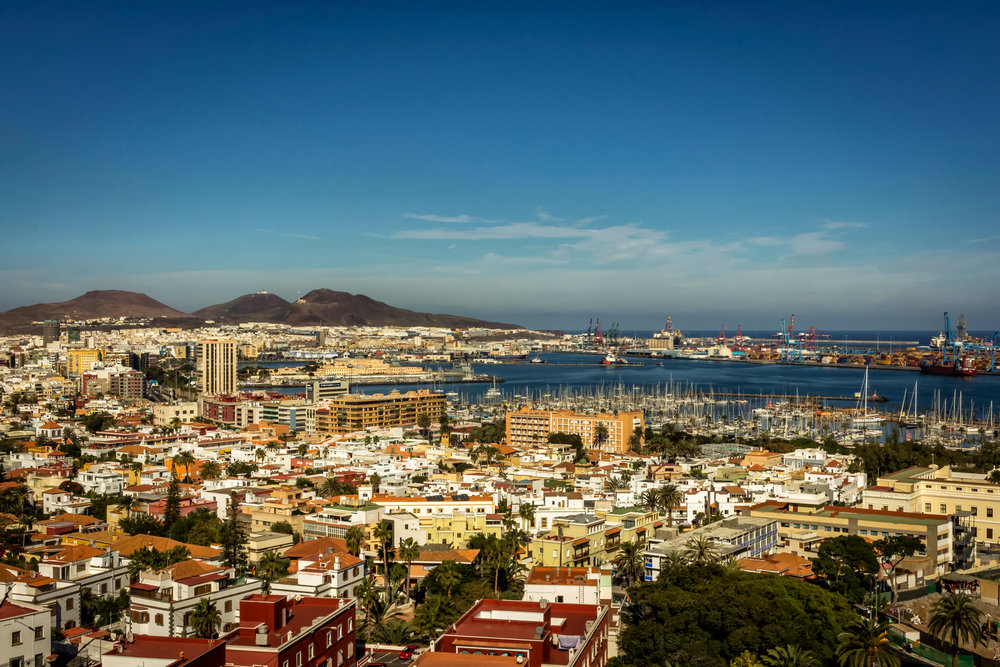 Las Palmas seen from the Hills