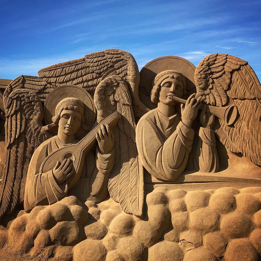 Sand sculptures on Las Canteras