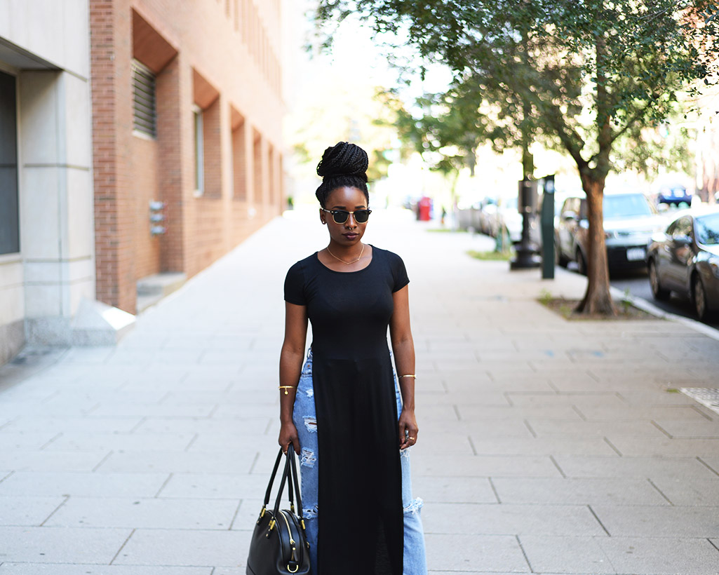 Tasha-James-The-Glossier-Fashion-Style-Beauty-Lifestyle-Blogger-DC-Arlington-Top-Streetstyle-Editorial-Chinatown-Shop-With-Chevy-Maxi-Shirt-Box-Braids-1