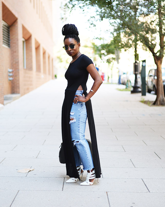 Tasha-James-The-Glossier-Fashion-Style-Beauty-Lifestyle-Blogger-DC-Arlington-Top-Streetstyle-Editorial-Chinatown-Shop-With-Chevy-Maxi-Shirt-Box-Braids-7