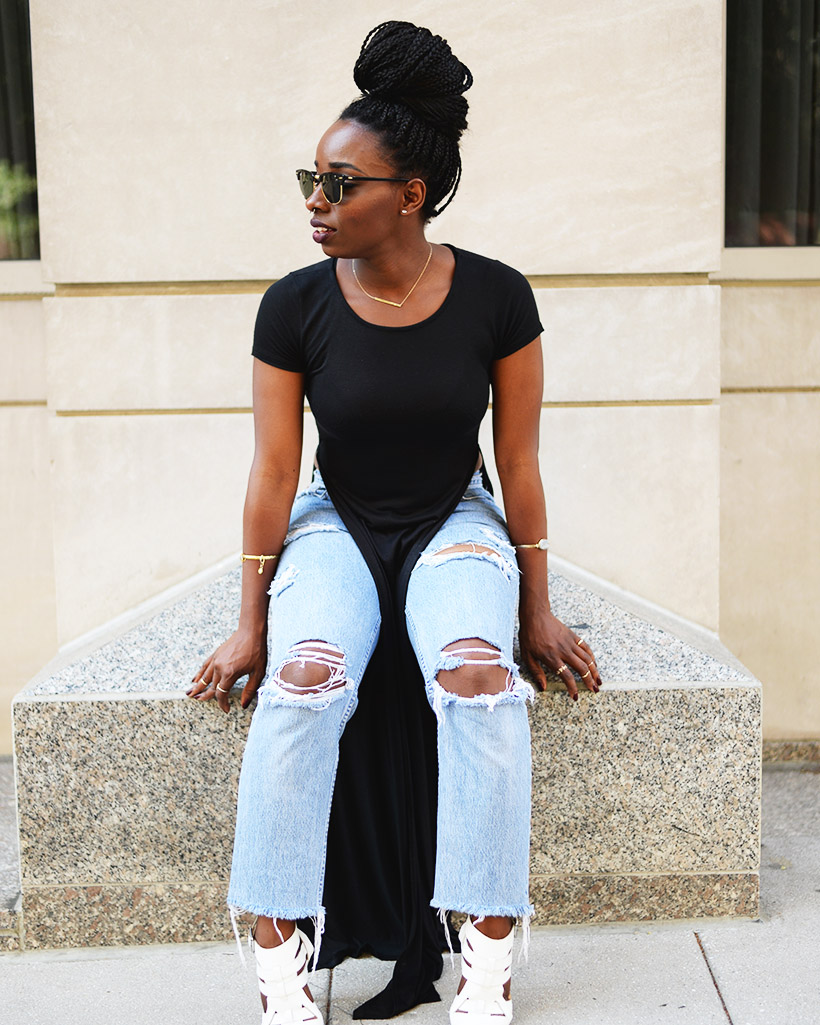 Tasha-James-The-Glossier-Fashion-Style-Beauty-Lifestyle-Blogger-DC-Arlington-Top-Streetstyle-Editorial-Chinatown-Shop-With-Chevy-Maxi-Shirt-Box-Braids-8
