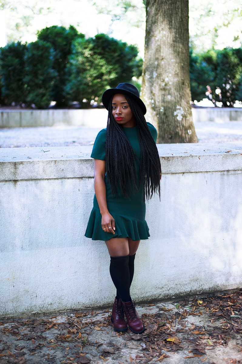 Tasha-James-The-Glossier-Fashion-Style-Beauty-Lifestyle-Blogger-DC-Arlington-Top-Streetstyle-Editorial-Box-Braids-Combat-Boots-Green-Dress-Asos-2