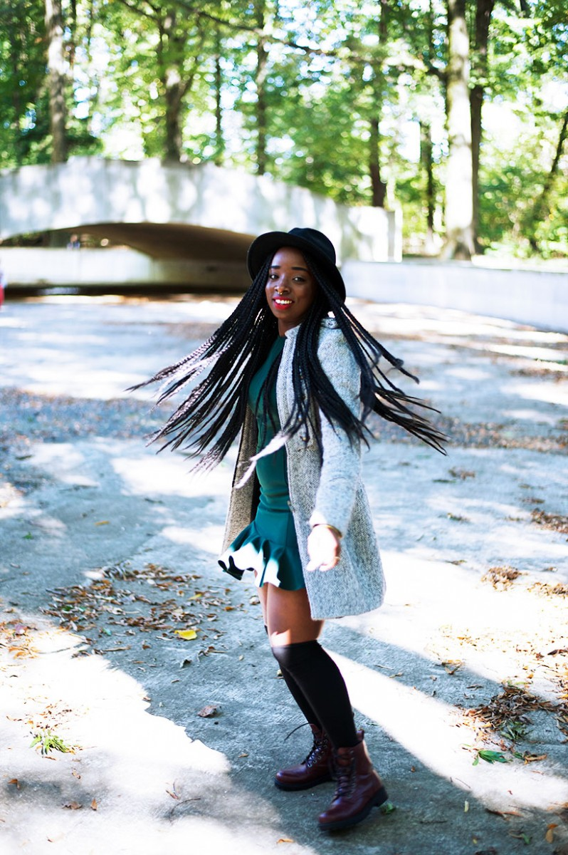 Tasha-James-The-Glossier-Fashion-Style-Beauty-Lifestyle-Blogger-DC-Arlington-Top-Streetstyle-Editorial-Box-Braids-Combat-Boots-Green-Dress-Asos-4