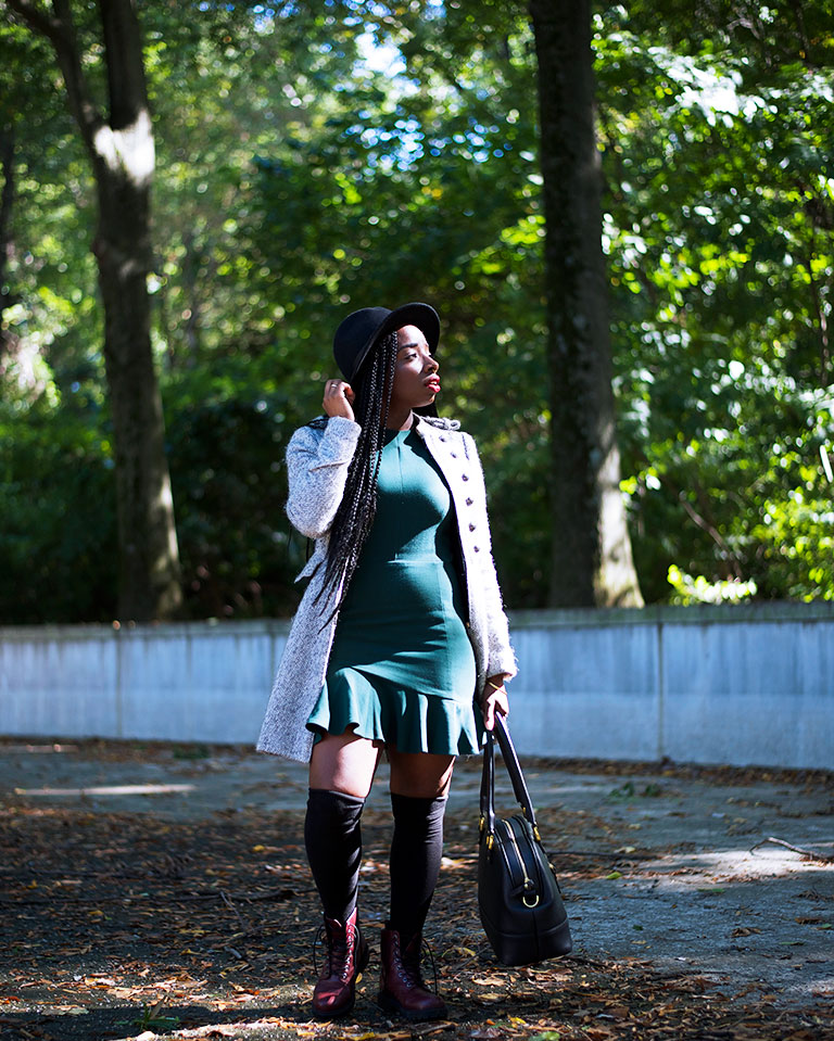 Tasha-James-The-Glossier-Fashion-Style-Beauty-Lifestyle-Blogger-DC-Arlington-Top-Streetstyle-Editorial-Box-Braids-Combat-Boots-Green-Dress-Asos-8