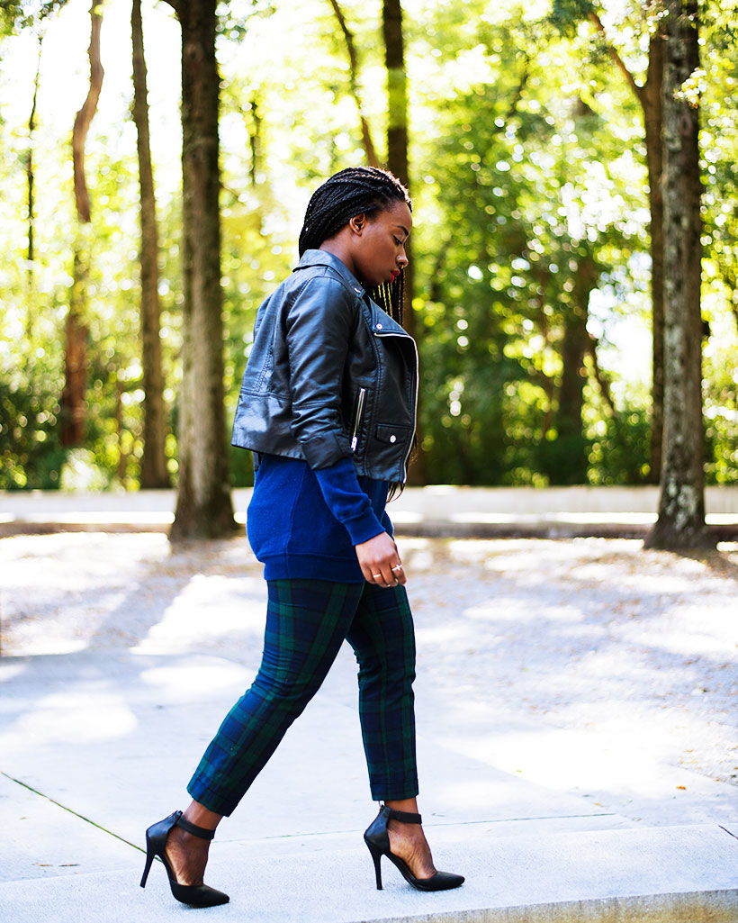 Tasha-James-The-Glossier-Fashion-Style-Beauty-Lifestyle-Blogger-DC-Arlington-Top-Streetstyle-Editorial-Box-Braids-Varsity-Letter-W-Tartan-Pants-Zara-Forever-21-H&M-7