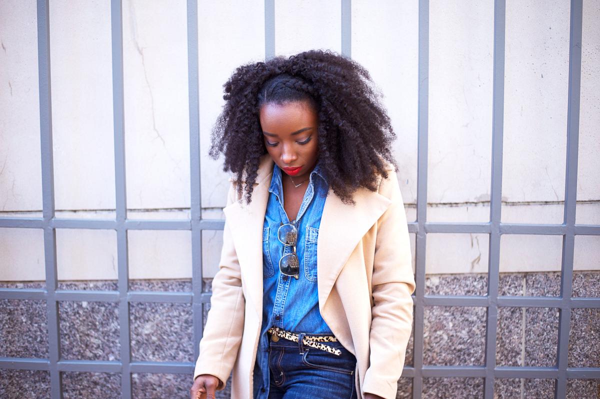 The-Glossier-Tasha-James-Top-Fashion-Blogger-Camel-Coat-Missguided-Denim-Canadian-Tuxedo-Gap-Adidas-Monochrome-2