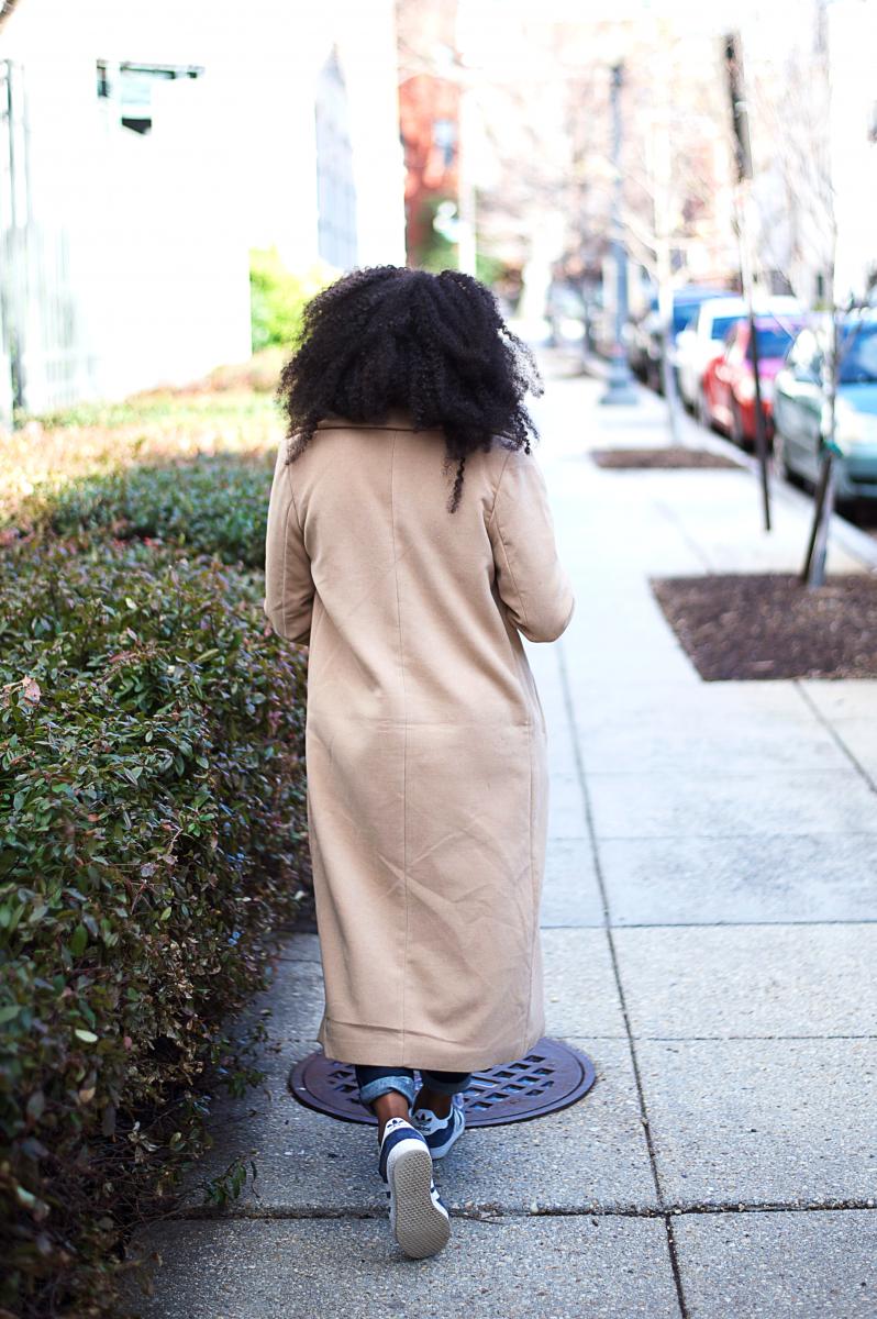 The-Glossier-Tasha-James-Top-Fashion-Blogger-Camel-Coat-Missguided-Denim-Canadian-Tuxedo-Gap-Adidas-Monochrome-13